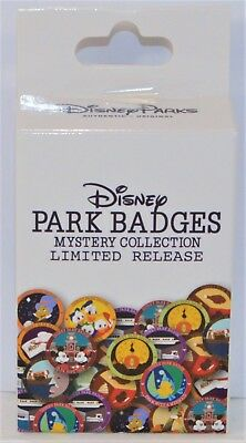 Disney Park Badges Mystery Box Collection Unopen Sealed 2 Pin LE BRAND NEW CUTE