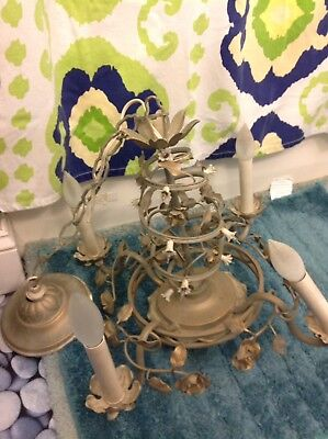 vintage light fixture With Small Flowers