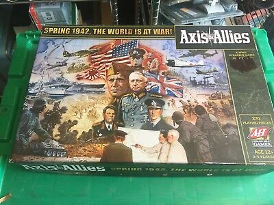 AXIS & ALLIES Spring 1942 WWII Strategy Board Game Avalon Hill Complete