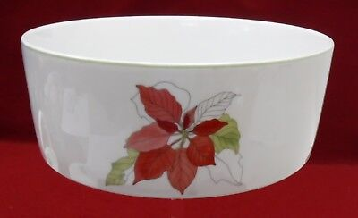 """BLOCK china POINSETTIA pattern Round Vegetable Serving Bowl - 7-3/4"""""""
