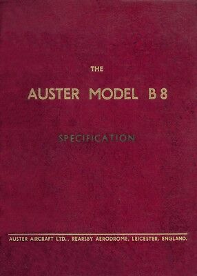 Auster Model B.8 Agricola - Specification & Pilot's Notes