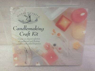 House Of Crafts Candlemaking Craft Kit Candle Making Wax Wick Moulds Dye Hc140