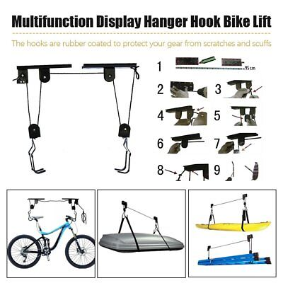 Kayak Ceiling Hoist Lift Pulley System Bike Lift Garage Storage Rack Rope