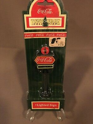 Coca Cola Town Square Collection Lighted Coke Sign NIP