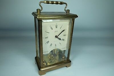 Old Vintage SCHATZ Carriage 8 Day Clock