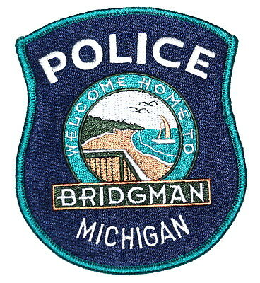BRIDGMAN MICHIGAN MI Police Sheriff Patch DOCK BEACH LAKE SAIL BOAT GULLS ~