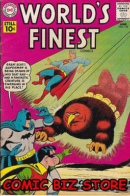 World's Finest #118 (1961) 1St Printing Silver Age Dc Vg+ 4..5 Superman & Batman