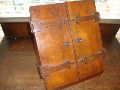 Beautiful Antique Arts & Crafts Hand Made Wooden Stationery Box