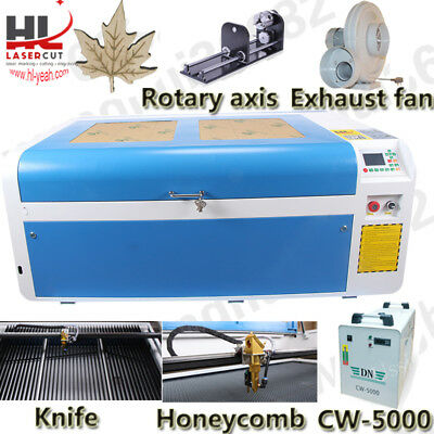 RECI 100W CO2 Laser Engrave Cutting Machine RUIDA DSP/Auto Focus/5000 Chiller CA