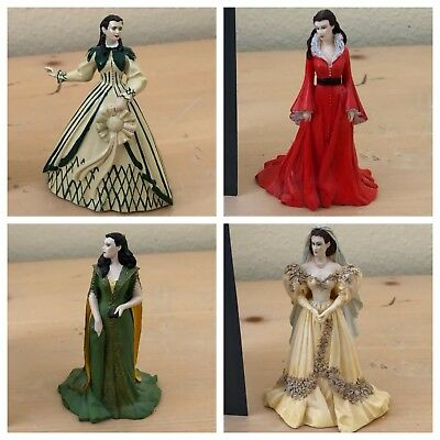 Franklin Mint Gone With The Wind 14 Figurines Every Dress From The Movie