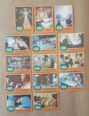 1977 Star Wars Series 3 Orange Card  Set