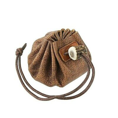 Real Leather Wear-Reenactment-Gaming BUSHCRAFT-TINDER POSSIBLES POUCH 3 Colours