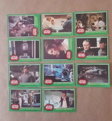 1977 Star Wars Series 4 Green Card Set