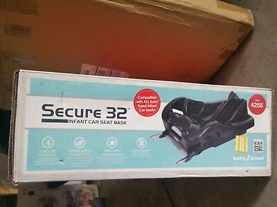 Baby Trend SECURE 32 Infant Car Seat Base-Compatible for 22/30/32 Car Seat - NEW