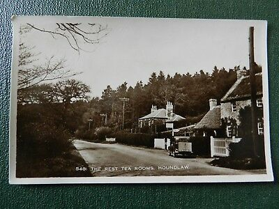 Old Real Photo Postcard - Houndlaw , Berwickshire - The Rest Tea Rooms