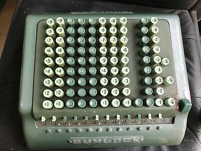 Sumlock Adding Machine Vintage Antique Collectable
