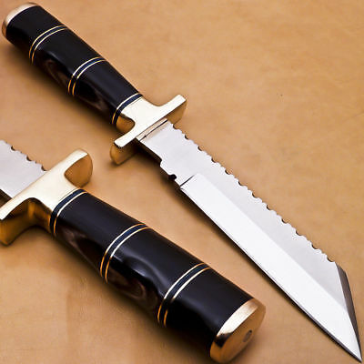 Beautiful CUSTOM HAND MADE STAINLESS STEEL HUNTING KNIFE