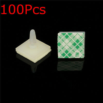 100Pcs Nylon Plastic Adhesive Spacer Standoff Locking Snap-In Posts Fixed Clips