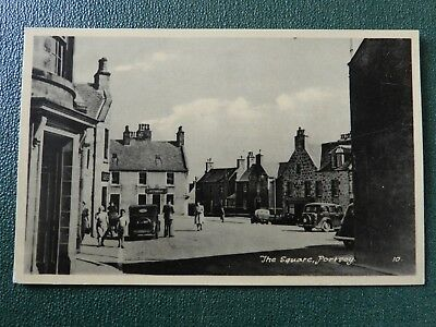 Old Postcard - Portsoy , Aberdeenshire - The Square