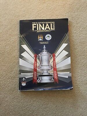 FA Cup Final 2013 Programme Wigan v Manchester City