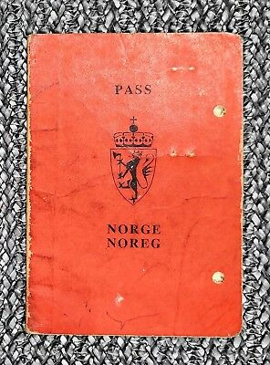 NORWAY collectible 1980 passport travel document (expired/invalid) FULL OF VISAS