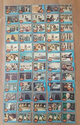 1977 Topps Star Wars Card Set Series 1 Blue Good Condition With Misprint/miscuts