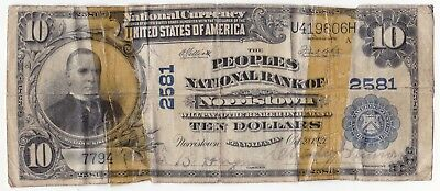 UNITED STATES 10 dollars 1902 Norristown, Pennsylvania Blue seal no date Fr-634