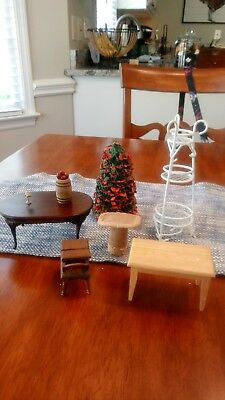 Vintage Lot of Dollhouse Miniatures and Furniture Doll House Accessories