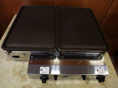 Commercial CAST IRON Gas Grill - Hot Plate, 51x40 cm Gasgrill Piezo ignition.