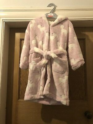 Brand New With Tags Boots Mini Club Pink/white Deer Dressing Gown Age 1-2 Years