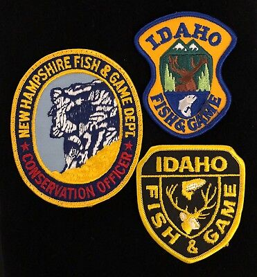 New Hampshire Idaho Fish & Game Wildlife Police Patch Lot Group