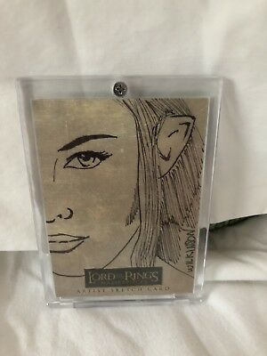 Lord Of The Rings Masterpieces Sketch Card By Wilkinson Armen