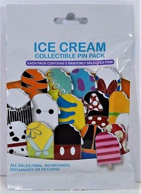 Disney 2018 Ice Cream Popsicle Mystery Collection Unopen 5 Pin Pack BRAND NEW