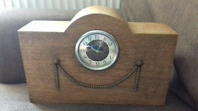Victorian Oak  Mantle Clock
