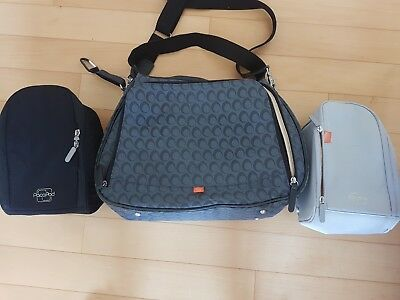 Pacapod baby changing Bag Black Charcoal Grey Storage Bags Sections