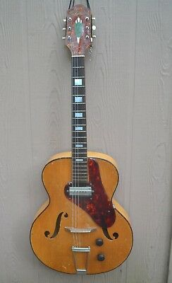 Vintage  Harmony H-61 Archtop Guitar Gibson P-13 Pickup Clean 1950's