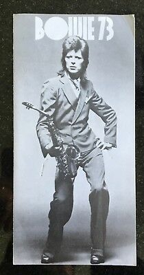 Original David Bowie Pinups Flyer from 1973