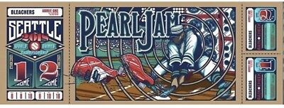 Pearl Jam Klausen Seattle Home Shows Poster London 8th & 10th Aug 2018 RARE! OOP