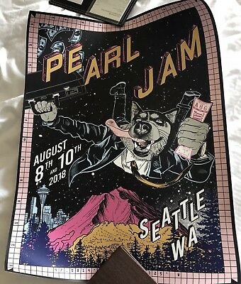 Pearl Jam FAILE Seattle Home Shows Poster London 8th and 10th Aug 2018 RARE! OOP