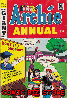 Archie Annual #19 (1967) Silver Age 1St Printing Vg+ 5.0 Bagged & Boarded
