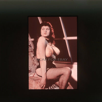 Ann Austin Nude 35mm Transparency Slide Busty Vintage 1950's Pinup c17 1