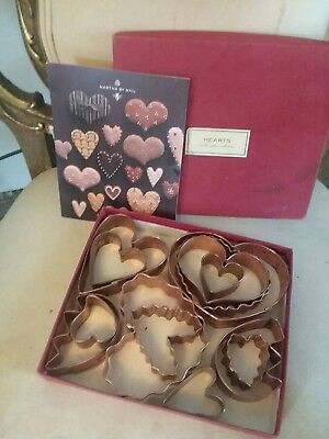 Martha by Mail Copper Hearts Cookie Cutter Set In Box