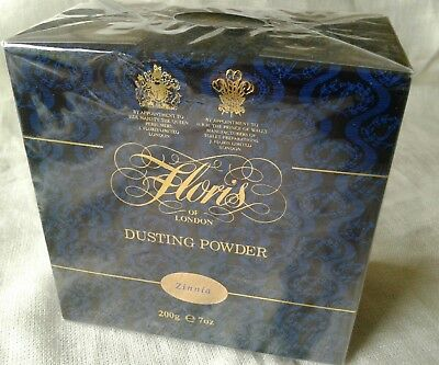 RARE Vintage -Floris of London Zinnia Dusting Powder 200g / 7oz ♡ New & Sealed ♡