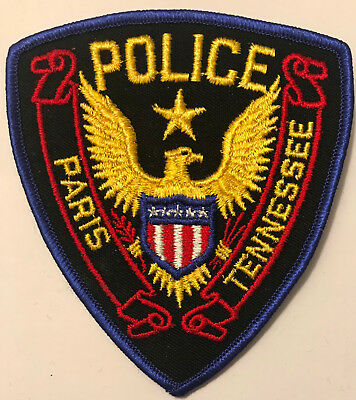 Paris Tennessee TN Police Sheriff Patch