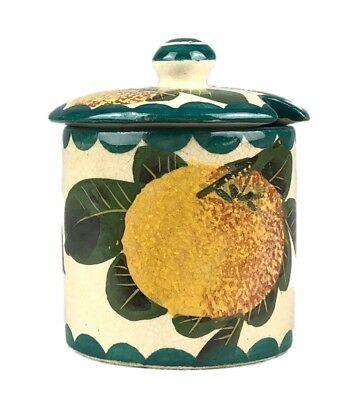 WEMYSS, T GOODE & Co. -SEVILLE ORANGES- PRESERVE HONEY POT BOWL JAR DISH COVER