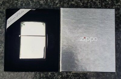 Zippo High Polished Silver Plated Lighter