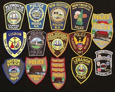 New Hampshire Police Patch Mixed Lot - Sheriff (Group 2)