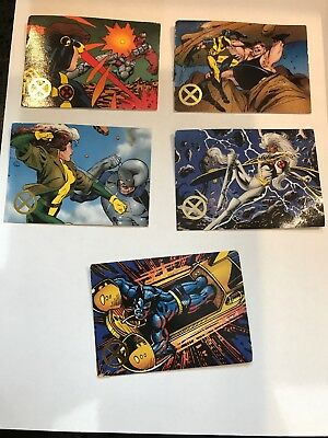 1995 Marvel Entertainment X-men Timegliders Set of 5 Trading Cards