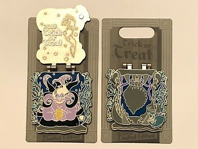 Disney 2018 Halloween Trick Or Treat Ursula From Little Mermaid Pin LE 4000 NEW