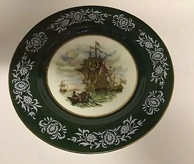 Vintage Royal Sutherland H M Collectors Plate 27.5 cm wide, Good Condition.